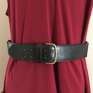 Black Wide Belt
